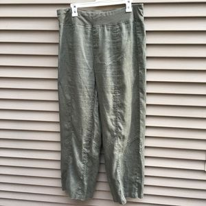 Soft Surroundings green loose fit lounge pants